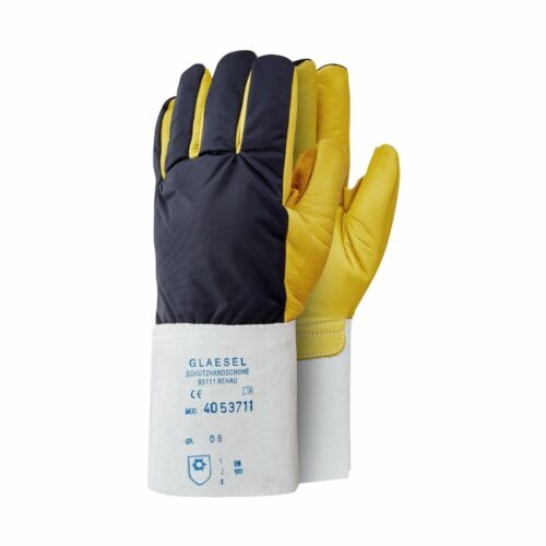 GL0036 Gold Chrome Leather Cryogenic Cold Protection Gloves