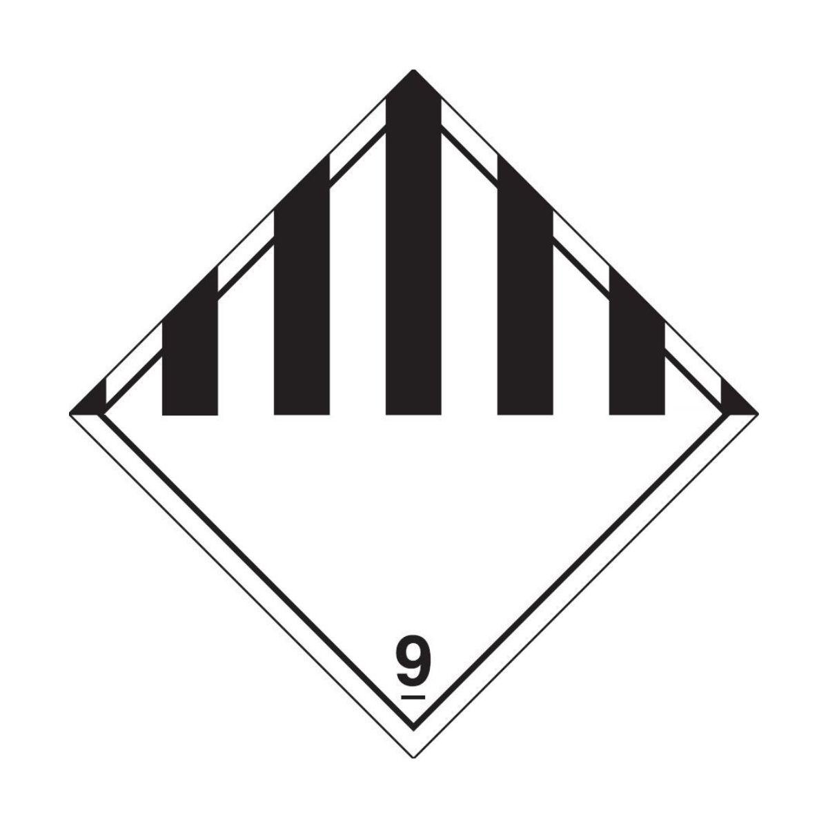 HD2910 UN Hazard Warning Diamond S_A Class 9 Miscellaneous