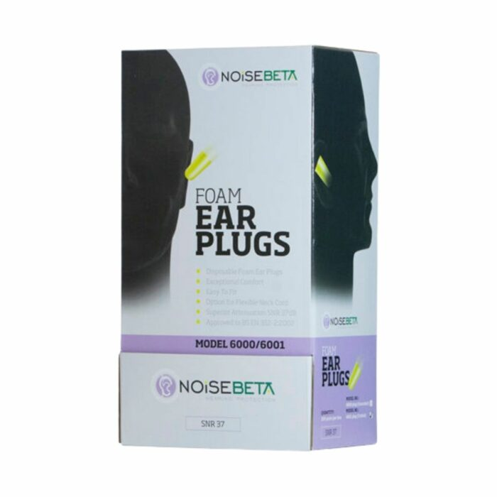 HP6001 Noisebeta Corded Ear Plugs Box Of 200 Pairs - Box