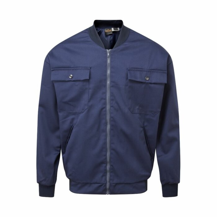 JK2212 Lined 300gsm Navy Driver Jacket