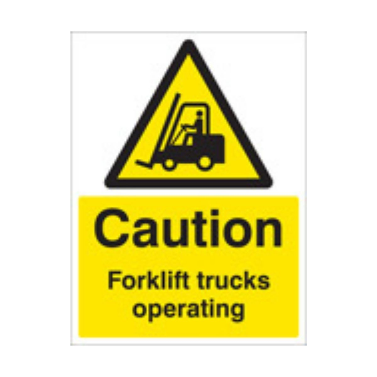 SS14215K Caution Forklift Trucks Operating (400 x 300mm)