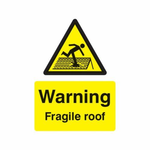 SS14261E Warning Fragile Roof (200 x 150mm)