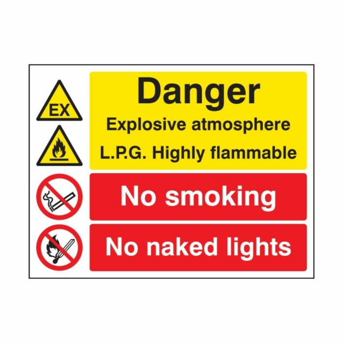 SS16234Q Explosive Atmosphere LPG Highly Flammable No Smoking_Naked Light