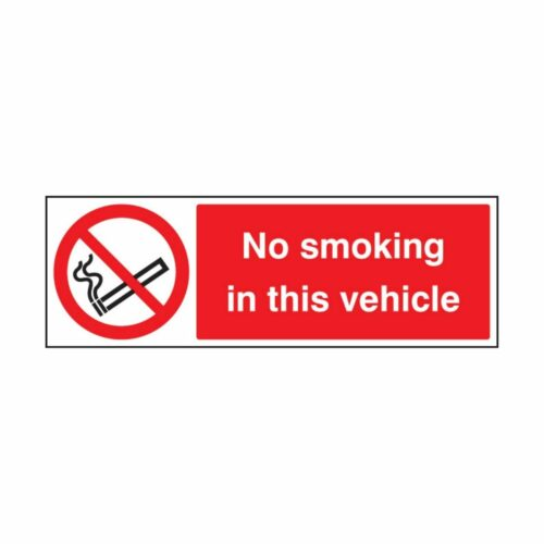 SS23008G No Smoking In The Vehicle (300 x 100mm)