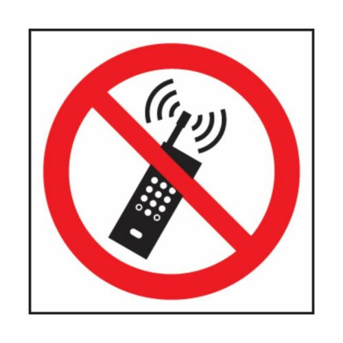 SS23613F No Mobile Phones Symbol (200 x 200mm)