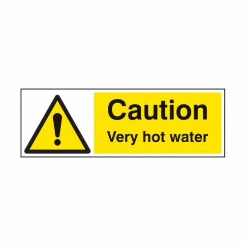 SS24236A Caution Very Hot Water (100 x 75mm)
