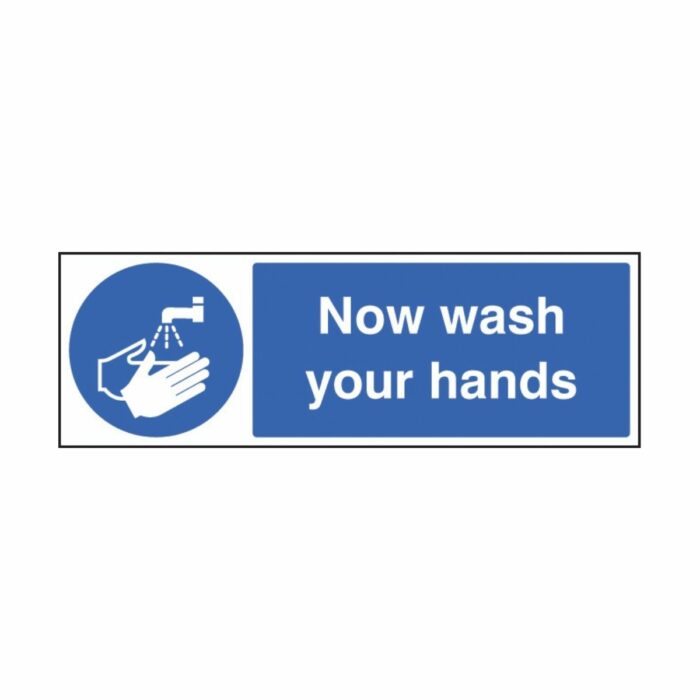 SS25418G Use Hand SSS25408G Now Wash Your Hands (300 x 100mm)anitiser (300 x 100mm)