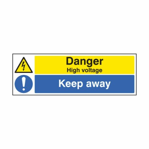 SS26219G Danger High Voltage Keep Away (300 x 100m)