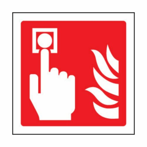 SS31017U Fire Alarm Call Point Symbol (100 x 100mm)