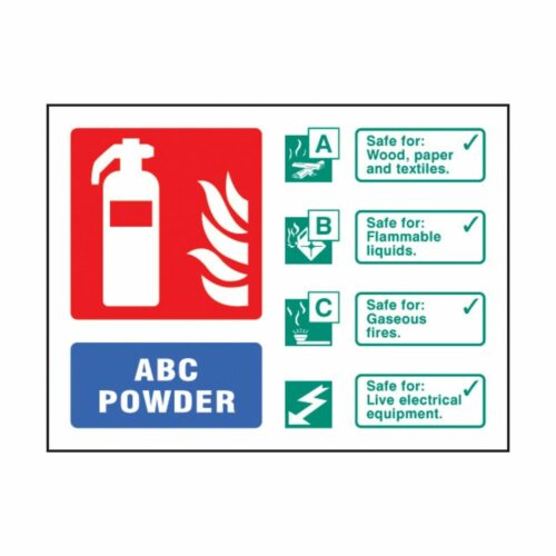 SS31233D ABC Powder Extinguisher Identification (100 x 150mm)