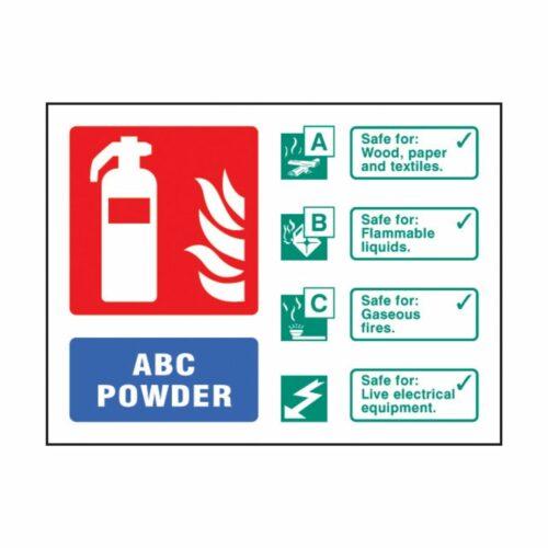 SS31233D ABC Powder Extinguisher Identification (100 x 150mm)