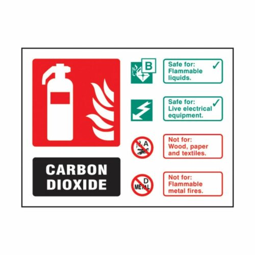 SS31235D CO2 Extinguisher Identification (100 x 150mm)
