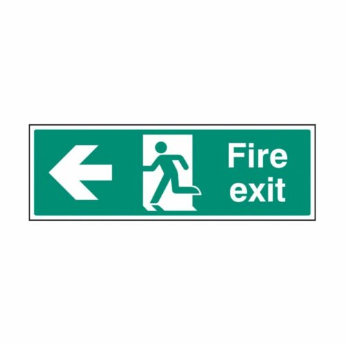 SS32003G Fire Exit - Left (300 x 100mm)