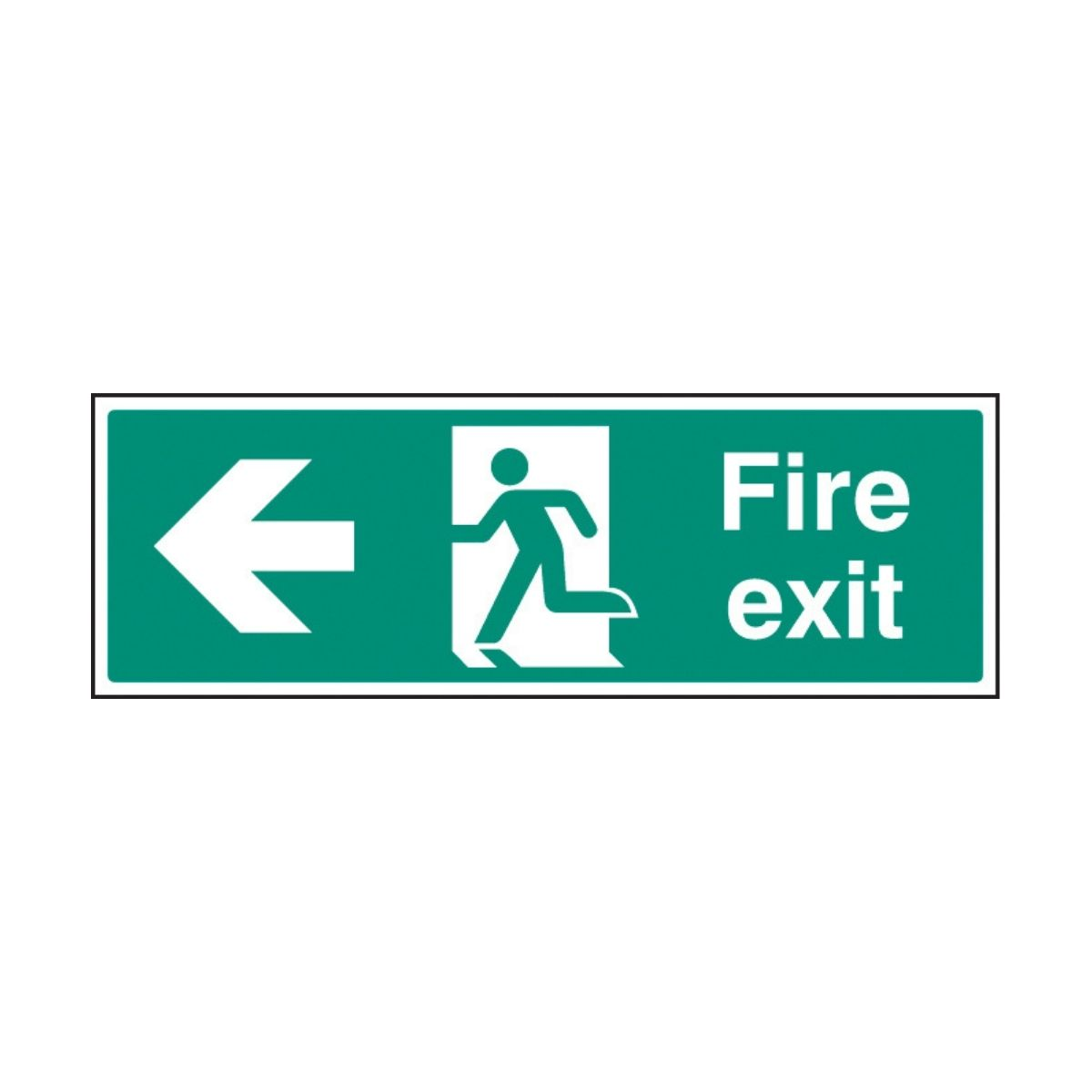 SS32003G Fire Exit - Left (300 x 100mm)