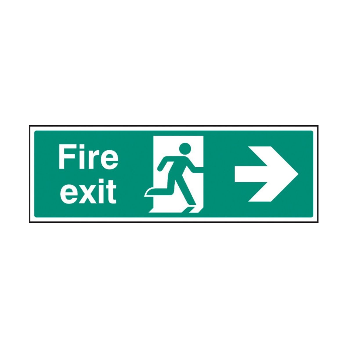 SS32004G Fire Exit - Right (300 x 100mm)