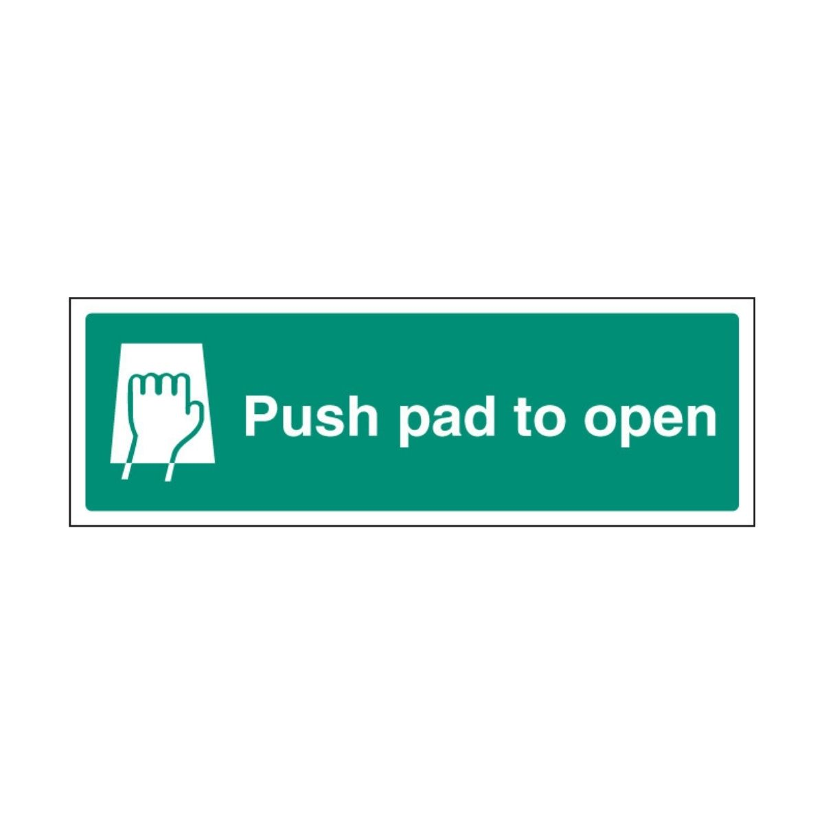 SS32051G Push Pad To Open (300 x 100mm)