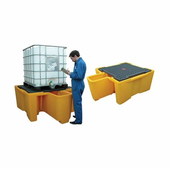 SC2011 IBC Spill Pallet 1100ltr With Dispenser End