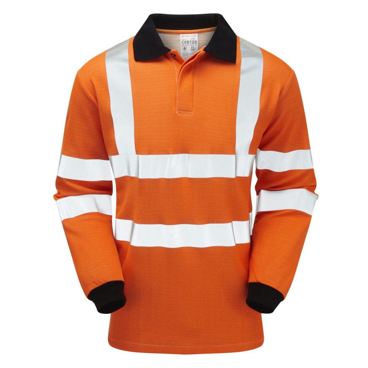 PULSAR Hi-Vis Orange Flame Resistant ARC Polo