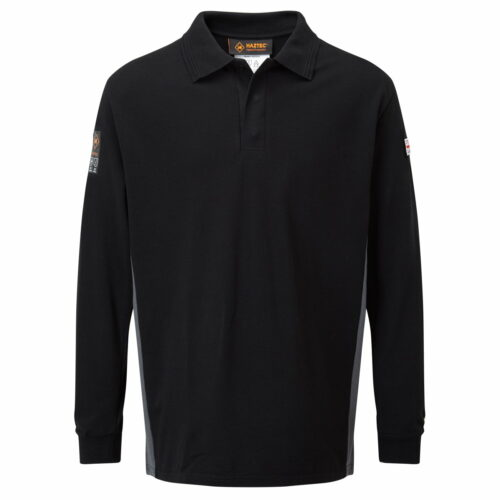 AS2242 Haztec Carrac FR AS Polo Shirt_Black-Grey