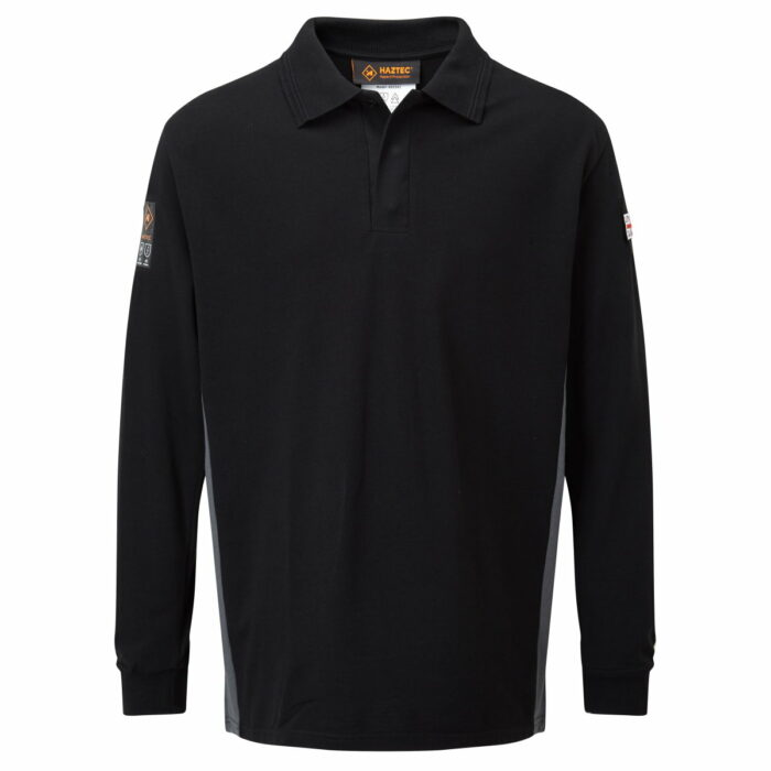 AS2242 Haztec Carrac FR AS Polo Shirt_Black-Grey