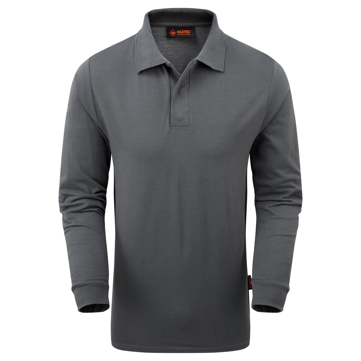 AS2242_HAZTEC Carrac FR AS Inherent Polo_Grey-Black