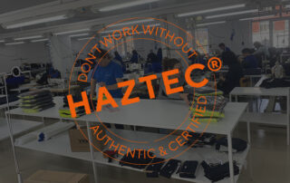 HAZTEC certified and authentic guarantee stamp