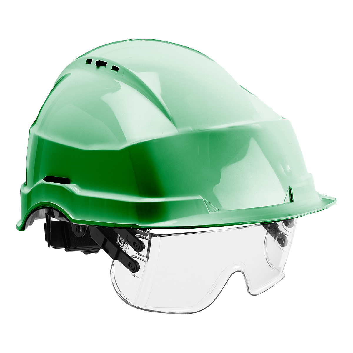 HF0510_Iris II Safety Helmet and Visor_Green