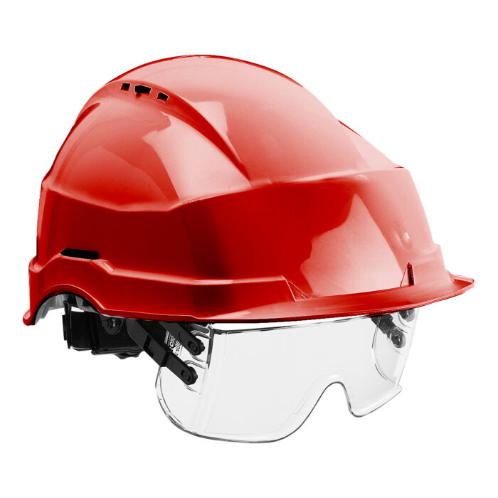 HF0510_Iris II Safety Helmet and Visor_Red