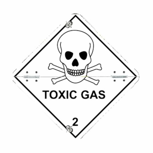 VS7220 Toxic Gas Folding Aluminium Diamond 250 x 250mm
