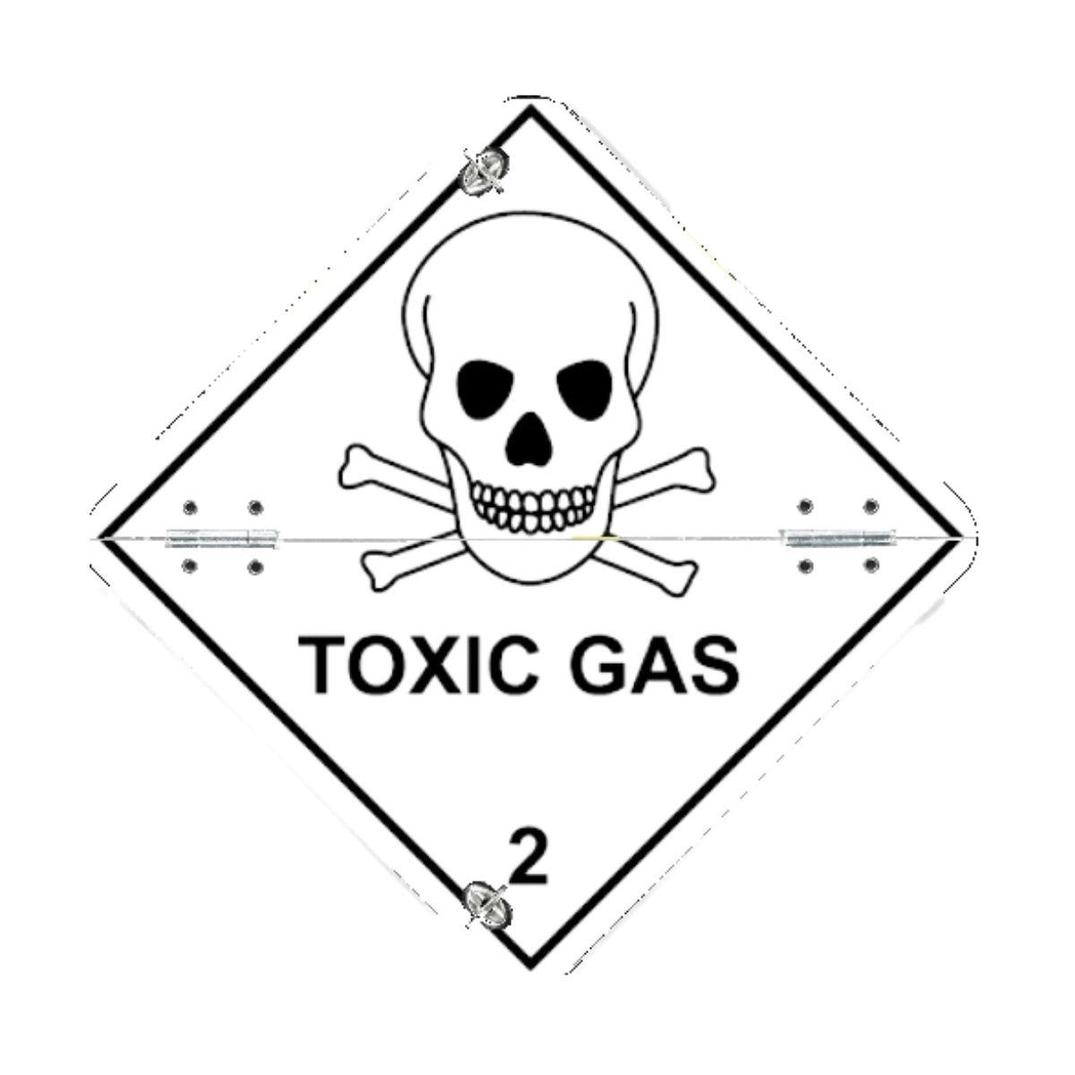 VS7220 Toxic Gas Folding Aluminium Diamond 250 x 250mm