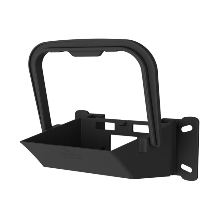 AE0120_Large Wheel Chock Holder in Black Plastic
