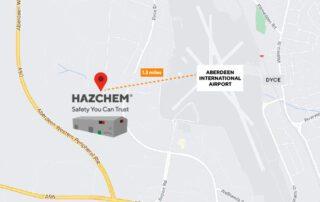 HAZCHEM Aberdeen Trade Counter Google Map