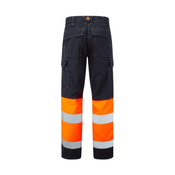 AS0065_HAZTEC® Kilmar FR AS ARC Hi-Vis Combat Trouser, HV Orange_Back