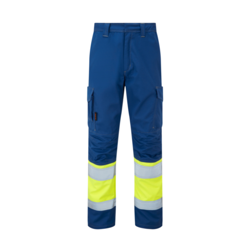 AS0065_HAZTEC® Kilmar FR AS ARC Hi-Vis Combat Trouser, NVYHVYEL_Front