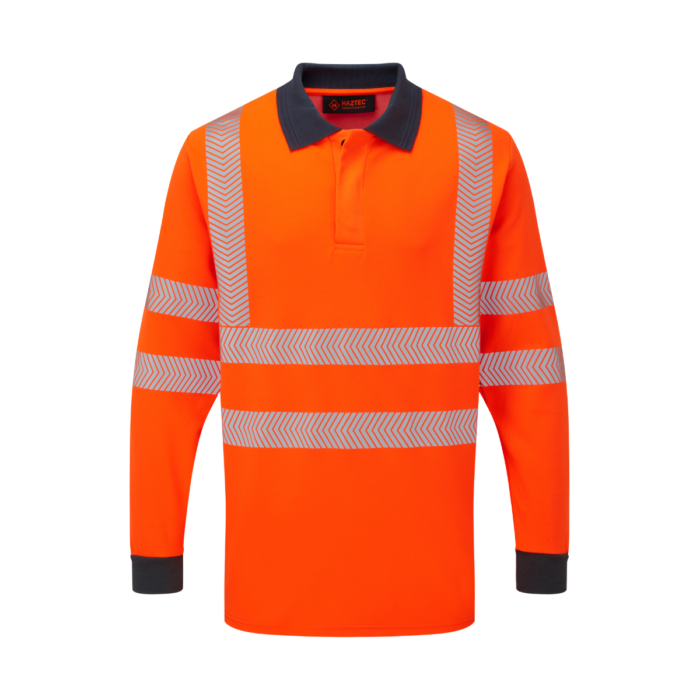 AS2243_HAZTEC® Orwell FR AS Arc Hi-Vis Inherent LSleeve Polo_Front