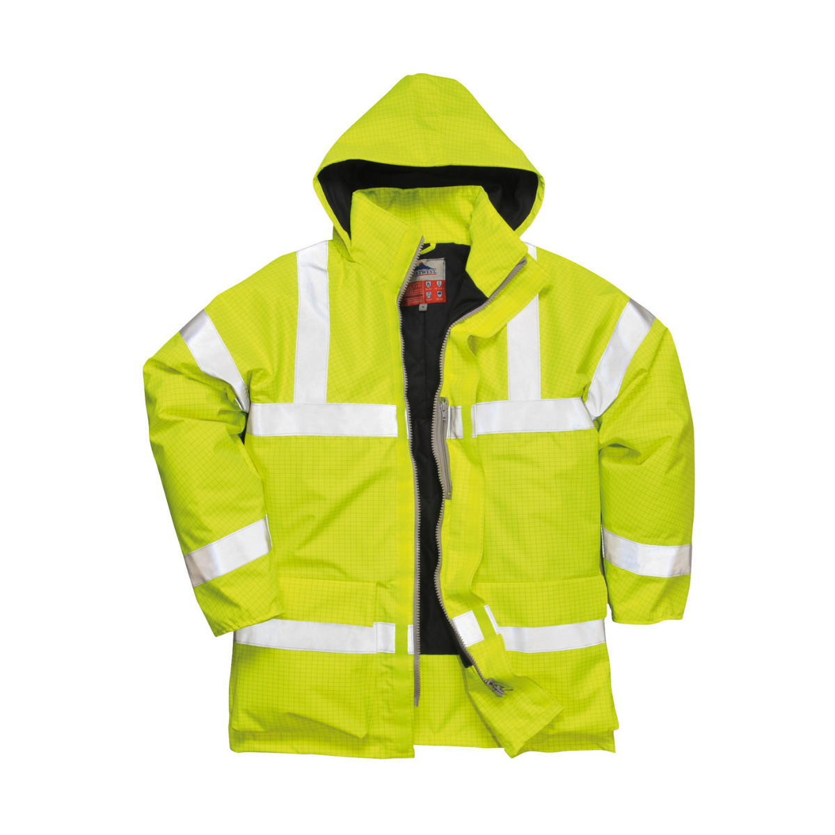 AS0778_FR AS Hi-Vis Contractors Traffic Jacket_Yellow