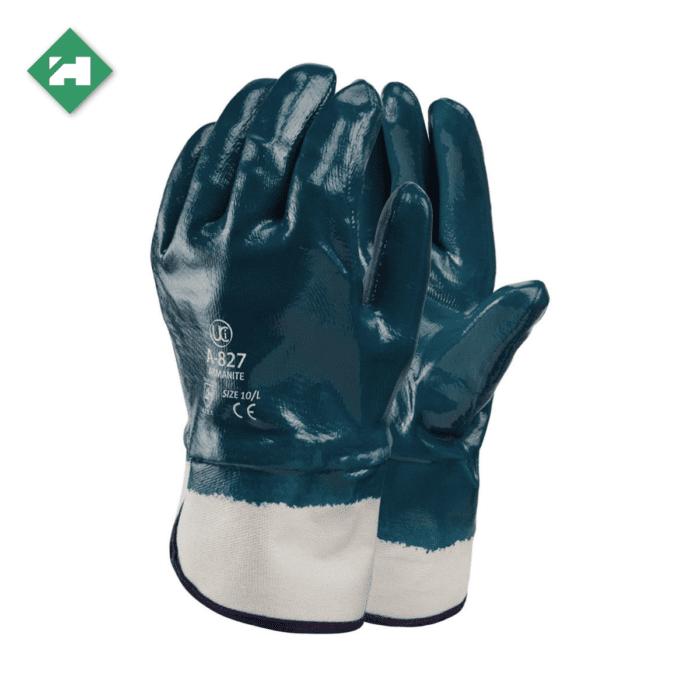 GL0110_Armanite Nitrile Coated Gloves, Safety Cuff
