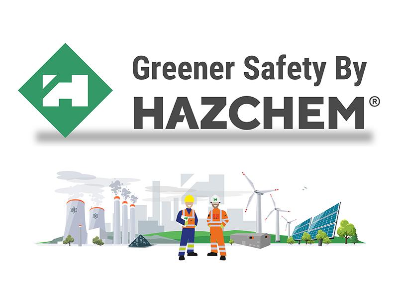 HAZCHEM Greener Safety logo and banner