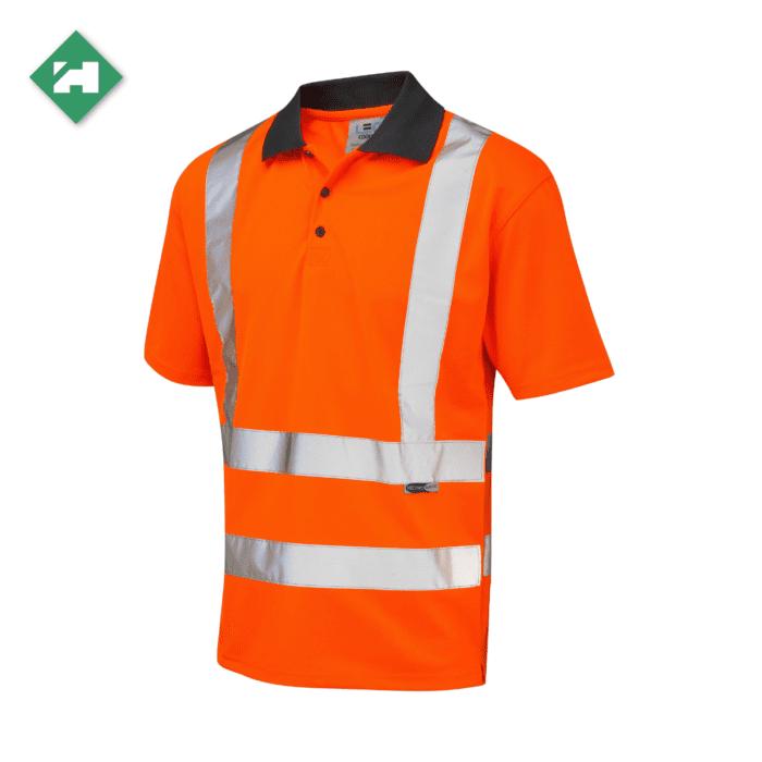 HV5001_EcoViz Short Sleeve Polo Shirt_Orange