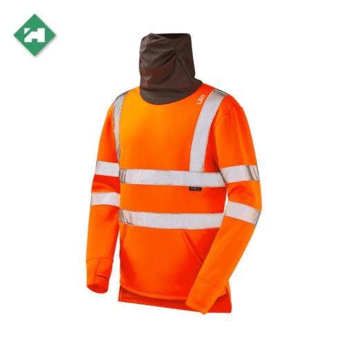 WW1288 Eco Vis Hi Vis Snood Sweatshirt Orange