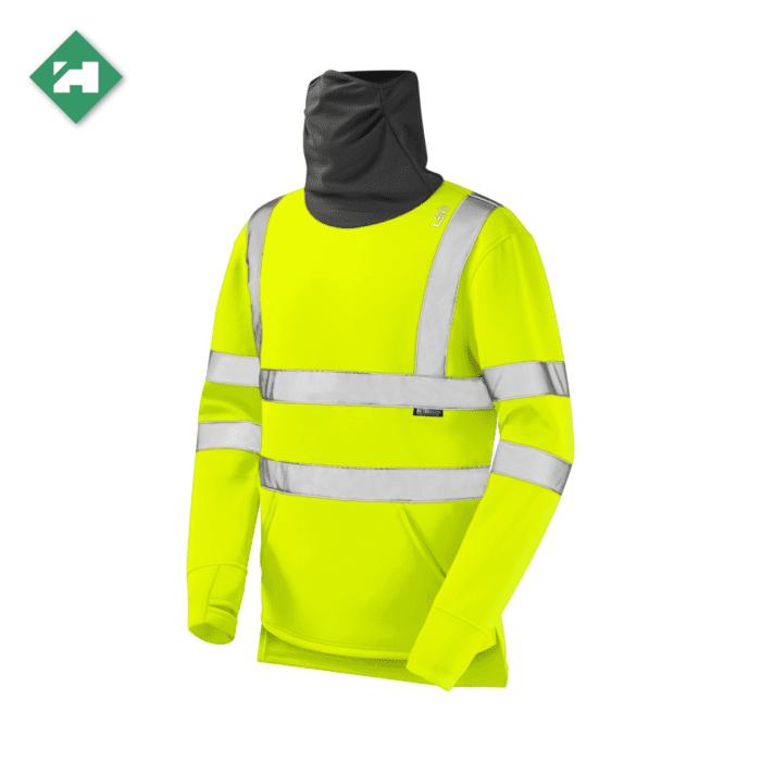 WW1288 Eco Vis Hi Vis Snood Sweatshirt Yellow